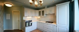 Белая угловая кухня на заказ