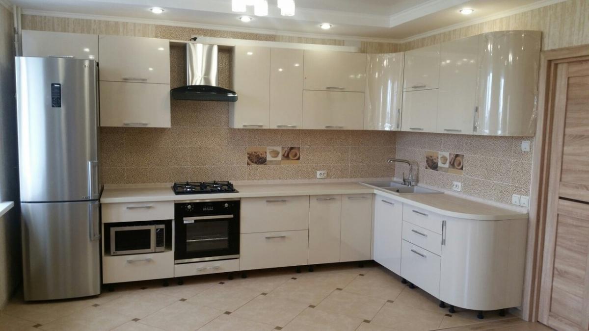 белая угловая кухня на заказ фото цены каталог дешево дорого