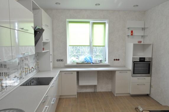 Белая кухня эмаль угловая